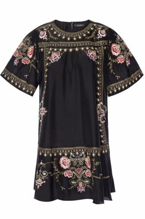 Dress with embroidered floral motif od Isabel Marant